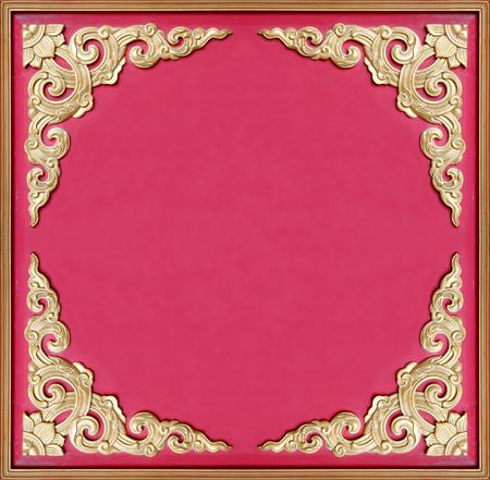 verdigris: Decorative old golden picture frame