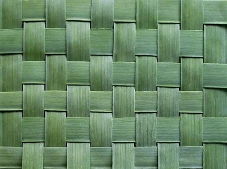 beach mat: Pattern weaving of banana leaves Stock Photo