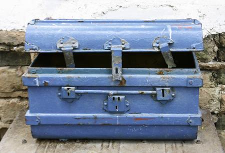 metal box: Old dirty metal box