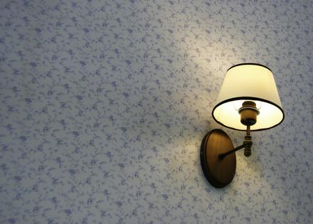 wall mounted: Close up of wall mounted lamp
