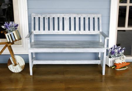 青い椅子 写真素材