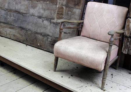 loveseat: grunge old seat