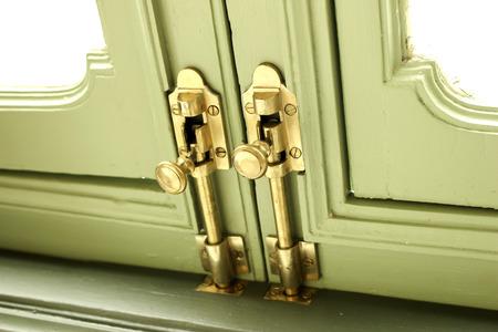 open trench: Brass Hasp Door Vintage Old Retro