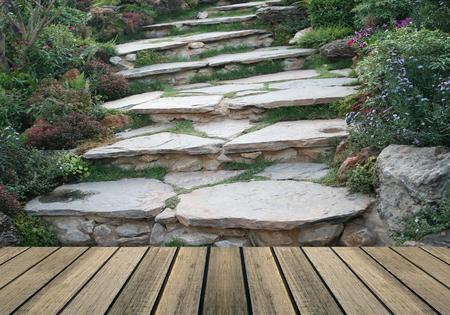 Walk way in beautiful garden