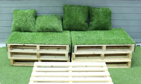 floriade: grass bench