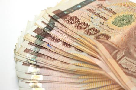 Thai Money, Thai Currency 1000 Baht Stock Photo