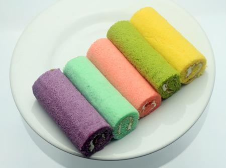 splendor: Swiss jam roll dessert delicious colorful splendor