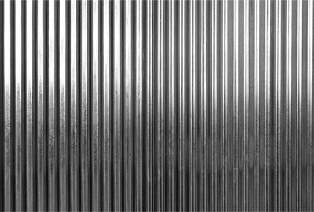 Gegolfde metalen textuur oppervlak of galvaniseren staal achtergrond: zwart en wit toning