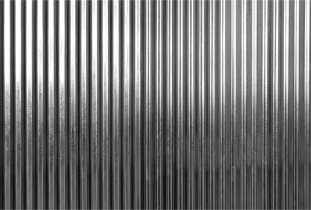 siderurgia: textura de la superficie de metal corrugado o galvanizar el fondo de acero: tonificación blanco y negro Foto de archivo