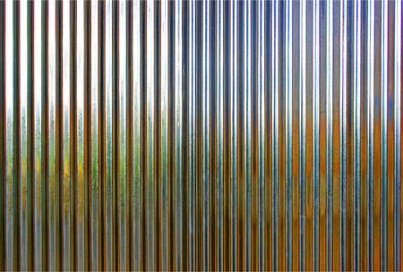 Corrugated metal texture surface or galvanize steel background Stock Photo
