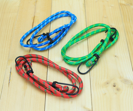 elastic band: Elastic Band on the old wooden floor