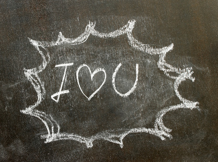 i love u: the word i love u in bubble sign