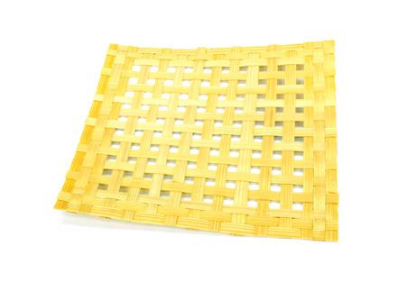 trabajo manual: Textura de madera de bambú, trabajo hecho a mano Foto de archivo