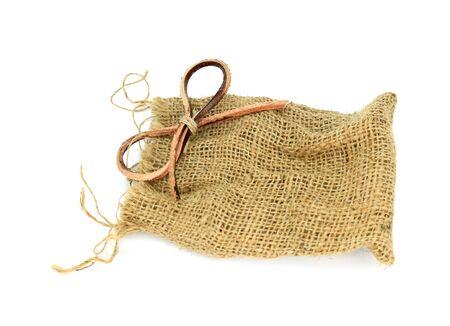 pack string: sack bag isolated on white background