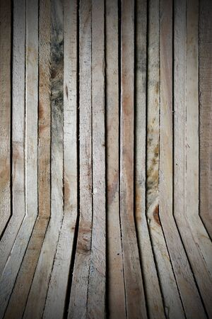 Raw wood, wooden slatted Stock Photo