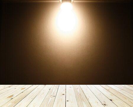 sienna: brown background with warm spotlight Stock Photo