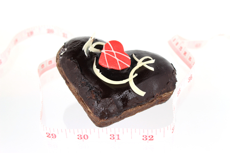 hundreds and thousands: donut heart with tape measure