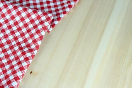 food absorption: checkered tablecloth red