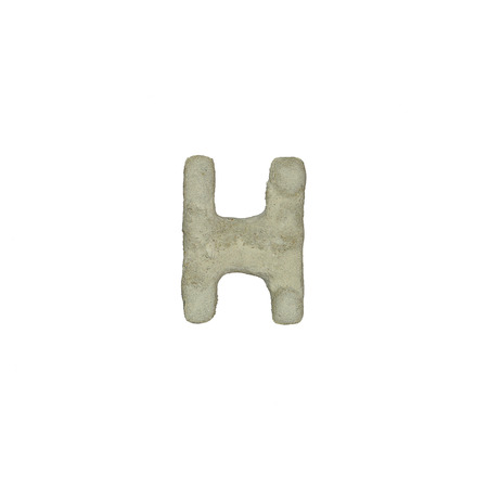 quicklime: The H letter cement texture with clipping path