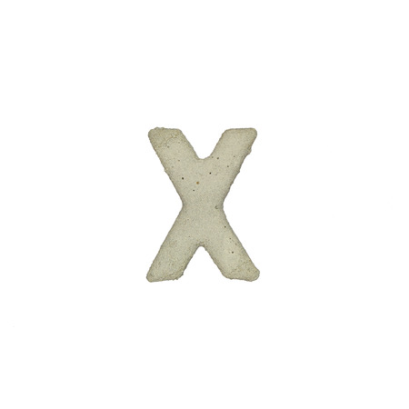 quicklime: The X letter cement texture with clipping path