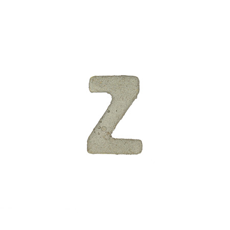 quicklime: The Z letter cement texture with clipping path