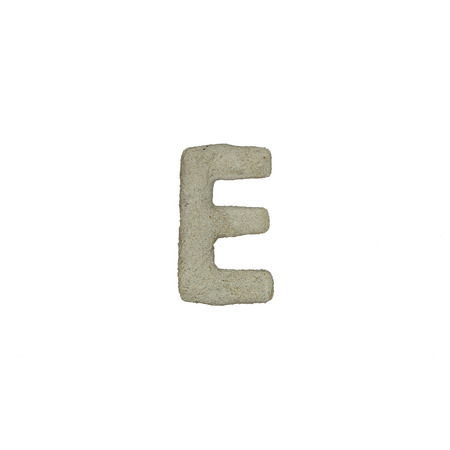 quicklime: The E letter cement texture with clipping path