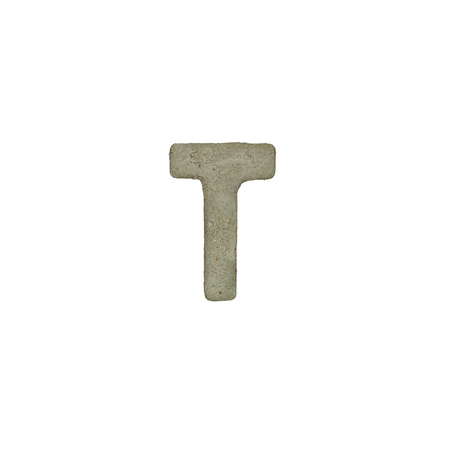 quicklime: The T letter cement texture with clipping path