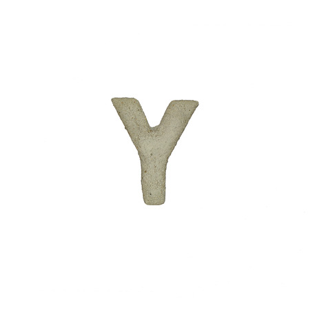 quicklime: The Y letter cement texture with clipping path