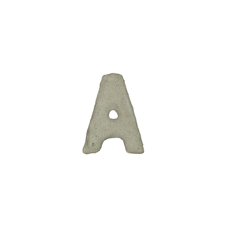quicklime: The A letter cement texture with clipping path