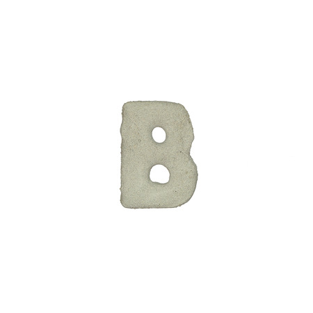 quicklime: The B letter cement texture with clipping path Stock Photo