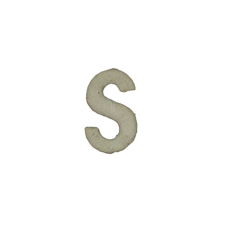 quicklime: The S letter cement texture with clipping path Stock Photo