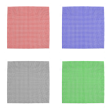 checkered tablecloth: Top view checkered tablecloth pattern Stock Photo
