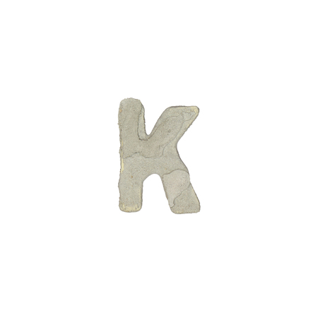quicklime: The k letter cement texture