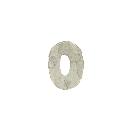 quicklime: The o letter cement texture