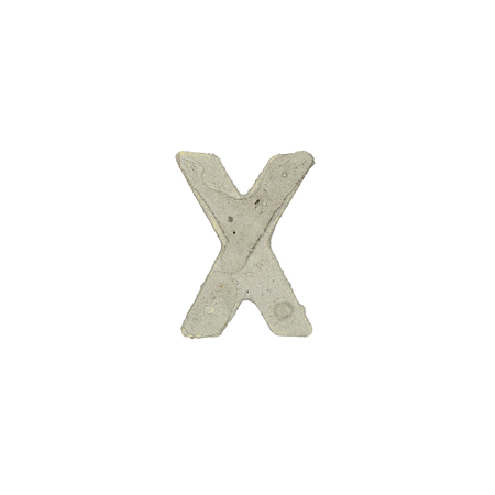 quicklime: The x letter cement texture Stock Photo