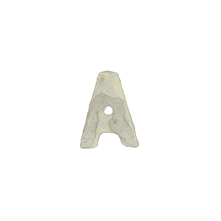 quicklime: The a letter cement texture