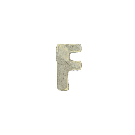 quicklime: The f letter cement texture