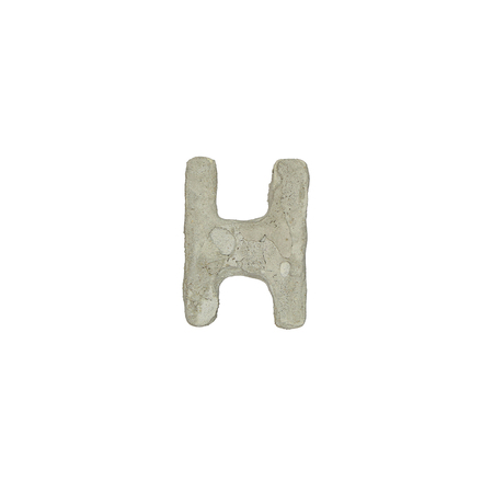 quicklime: The h letter cement texture