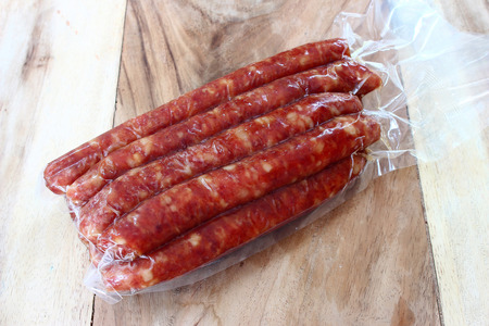 close up of chinese sausage, favorite food in Asia