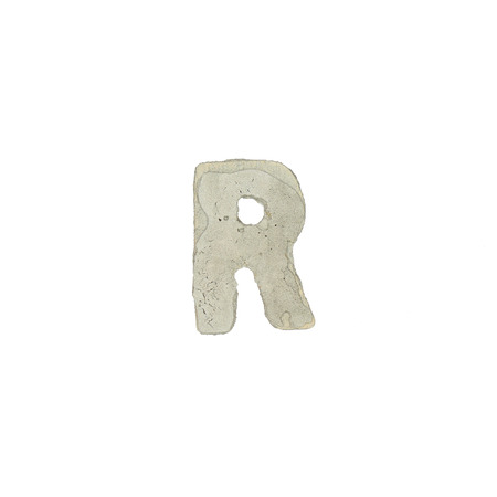 quicklime: The r letter cement texture Stock Photo