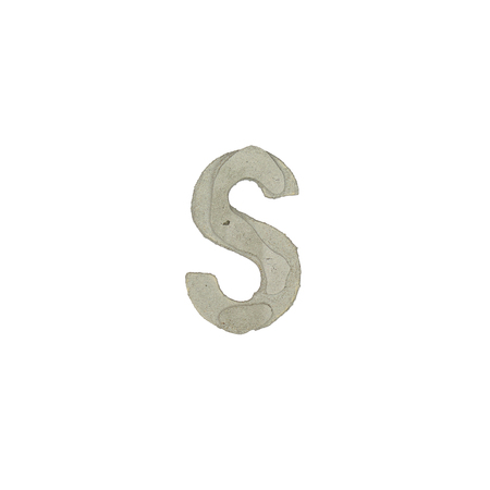 quicklime: The s letter cement texture