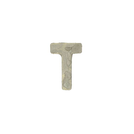 quicklime: The t letter cement texture