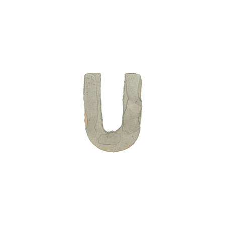 quicklime: The u letter cement texture