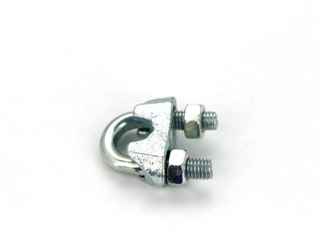 grip: Wire grip lock on white background