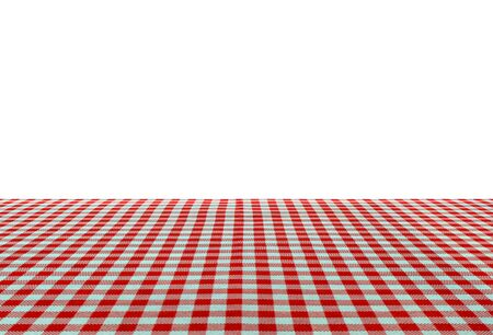 food absorption: Wooden table covered with tablecloth Stock Photo