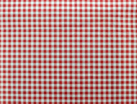 food absorption: Wooden table covered with tablecloth. View from top