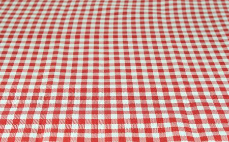 food absorption: Wooden table covered with tablecloth. View from top. Empty tablecloth for product montage. Free space for products and for your text