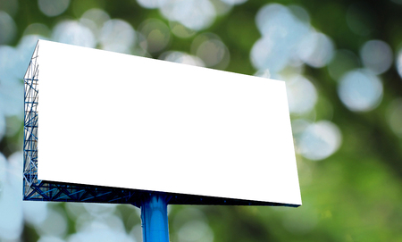 attract attention: Blank billboard ready for new advertisement Stock Photo