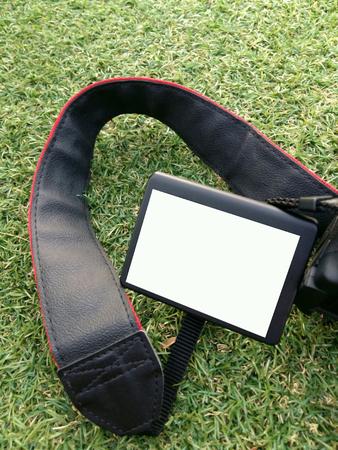 lcd display: white LCD display monitor camera