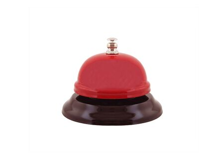 red ring bell isolated on white background Stock Photo